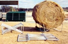 Collapsable Round Bale Hay Rack